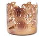 Gold Pumpkin Metal Candle Sleeve Front View Silo Image
