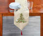 Gold Ribbon Tree Runner On Table Lifestyle Image