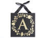 Golden A Letter Wall Plaque Silo Image