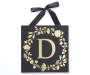 Golden D Letter Wall Plaque Silo Image