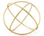 Golden Geo Sphere Decor 8 inches silo front