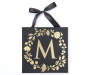 Golden M Letter Wall Plaque Silo Image