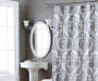Gray & White Berkshire Shower Curtain Lifestyle Image