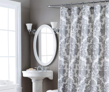 Aprima Gray White Berkshire Shower Curtain Big Lots