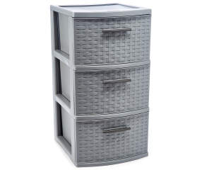 Sterilite Gray 3 Drawer Weave Tower Big Lots