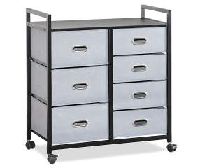 Just Home Gray 7 Drawer Bin Rolling Storage Cart Big Lots