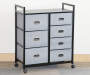 Gray 7-Drawer Bin Rolling Storage Cart