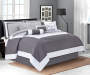 Gray 8 Piece Queen Hotel Bed In A Bag on Bed Room View