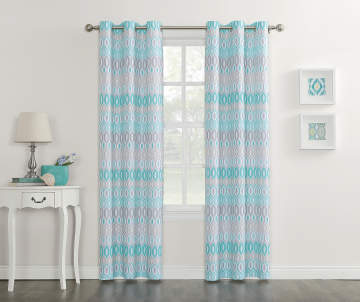 4 5 - Blue And White Window Curtains