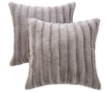 fluffy cover pillows com faux ac pillow throw fuzzy super dark warm gray chanasya amazon dp charcoal cozy pattern soft included fur