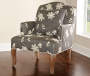 Gray Floral Bergere Armchair lifestyle