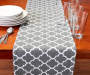 Gray Ironwork Table Runner with Props Room View