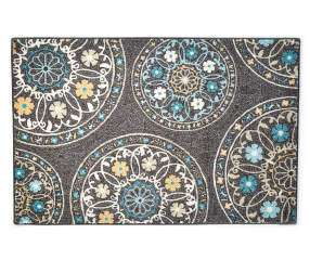 Living Colors Living Colors Gray Medallion Accent Rug