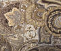 Gray Paisley Outdoor Throw Pillow 24in x 24in swatch