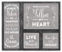 Gray Rustic Wood Inspirational Wall Art, 4-Piece Set