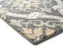 Gray Scroll Accent Rug 1 Feet 8 Inches by 2 Feet 10 Inches Close Up Corner Silo Image