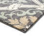 Gray Scroll Accent Rug 2 Feet 6 Inches by 3 Feet 10 Inches Close Up Corner Silo Image