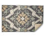 Gray Scroll Accent Rug 2 Feet 6 Inches by 3 Feet 10 Inches Corner Folded Overhead View Silo Image