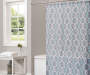 Gray Spring Lattice Shower Curtain Lifestyle Image