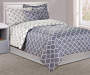 Gray Tile 6 Piece Twin Comforter Set on Bed in Room
