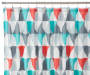 Gray Triangle Fabric Shower Curtain 72 inches on Rod