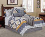 Gray Yellow Tile 12-Piece King Comforter Set Lifestyle Image