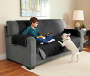 Gray and Black Reversible Sofa Protector lifestyle