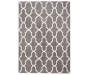 Gray and White Textured Lattice Area Rug 5 Feet by 7 Feet Overhead View Silo Image