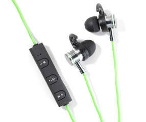 sentry green bluetooth stereo sport hook earbuds with. Black Bedroom Furniture Sets. Home Design Ideas