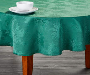 Green Jacquard Round Christmas Tablecloth 60 Quot Big Lots
