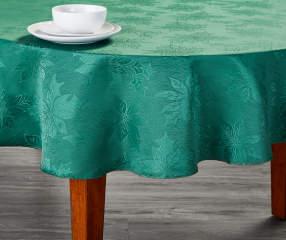 Green Jacquard Round Christmas Tablecloth 60 Quot Big Lots