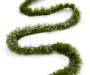 Green Pine Garland 80 Feet Long Overhead Shot Snake Pose Silo Image