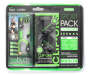 Green Sport Pack Earphones 2 Pack in Package Silo Image