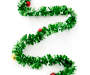 Green Tinsel Ornament Garland 12 Feet Snake Pose Silo Image