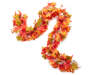 Green and Orange Maple Berry Chain Garland 6 Feet Silo Image