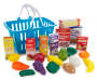 Grocery Shop and Play Set with Basket 21 Piece with Accessories Displayed Silo Image