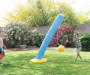 H2O Go Tetherball Splasher in Use Leaning with Children Models Outdoor Setting Lifestyle Image