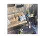 HAMPSTEAD RESIN WICKER SETTEE WITH CUSHIONS