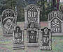 Halloween 6-Piece Tombstone Set Outdoor Lifestyle Image