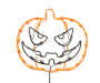 Halloween Orange Jack-O-Lantern Window Light Silo Lights On