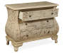 Hand Painted Words 3 Drawer Chest silo angled draw open