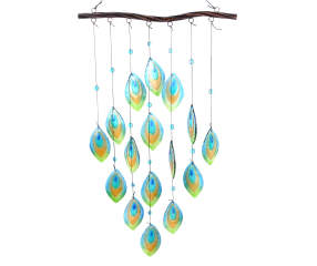 Hanging Feather Glass Windchime Big Lots