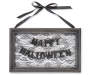 Happy Halloween Lace Hanging Wall Decor with Ribbon Bow Silo Image