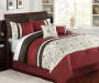 Harper Red Brown and White 7-Piece Queen Comforter Set Lifestyle Image