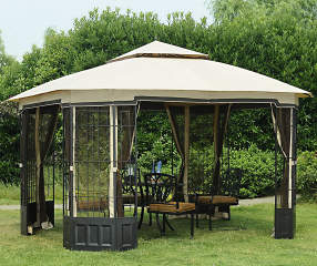 wilson fisher hartford gazebo 12 39 x 10 39 big lots. Black Bedroom Furniture Sets. Home Design Ideas