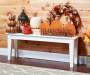 Harvest Blessings Pumpkin Tabletop On Bench Lifestyle Image
