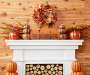 Harvest Blessings Pumpkin Tabletop On Mantel Lifestyle Image