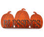 Harvest Blessings Pumpkin Tabletop Sign Silo