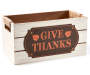 Harvest Large White Give Thanks Wooden Crate Silo