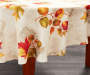 Harvest Leaves Round Fabric Tablecloth 60 Inches on Round Table Room View